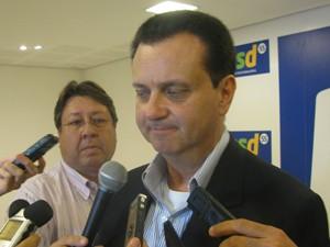 Gilberto Kassab anunciou apoio a Skaf (Foto: Roney Domingos/G1)