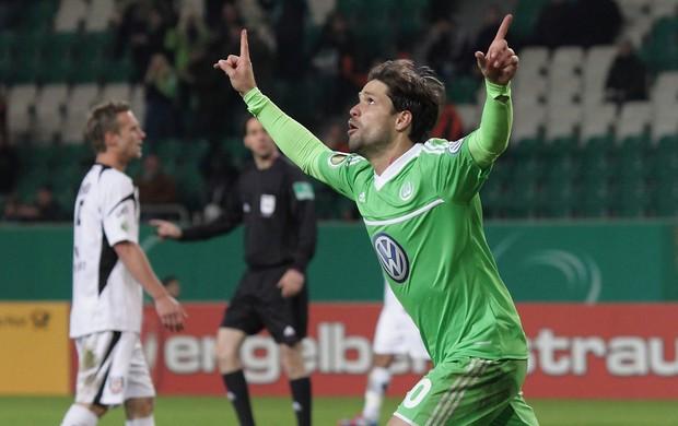 Diego gol Wolfsburg (Foto: EFE)