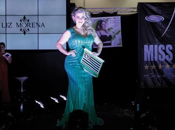 Aline durante o Miss Brasil Plus Size 2017 (Foto: Ademir de Jesus)