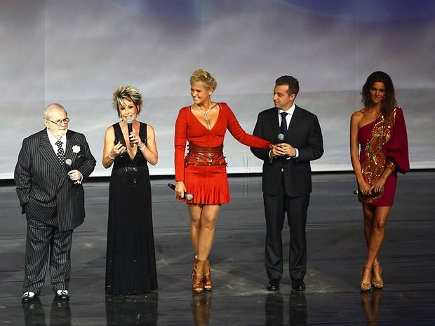 Jô Soares, Ana Maria Braga, Xuxa, Luciano Huck e Fernan Lima (Foto: Iwi Onodera/ EGO)