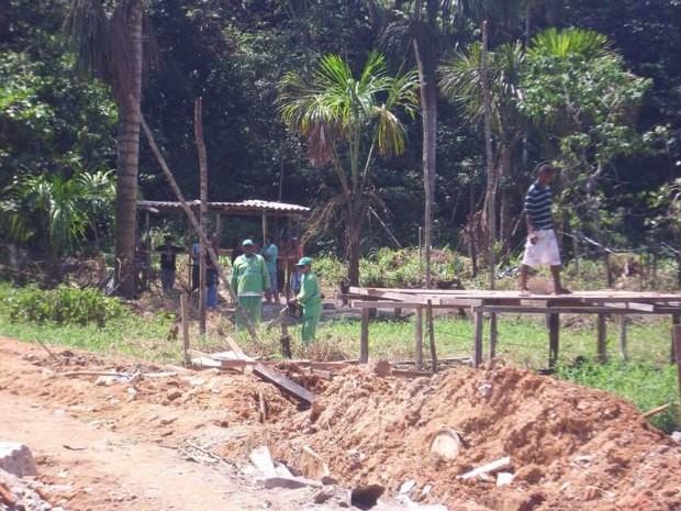 Invasão de terreno em área de proteção ambiental é impedida no Amazonas (Foto: Divulgação/Semmas)