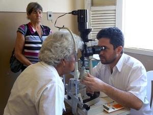 Cirurgias para catarata são feitas pelo SUS na Santa Casa de Misericórdia de Carmo da Mata MG (Foto: Thiago Góis/Jornal A Notícia)