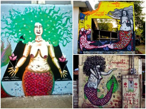 Grupo 'Golden Girls' usa arte urbana para debater feminismo (Foto: Reprodução/Arquivo Pessoal)