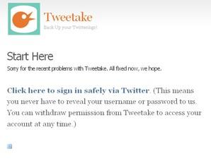 tweetake twitter backup