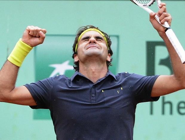 Roger Federer tênis Roland Garros quartas (Foto: AFP)