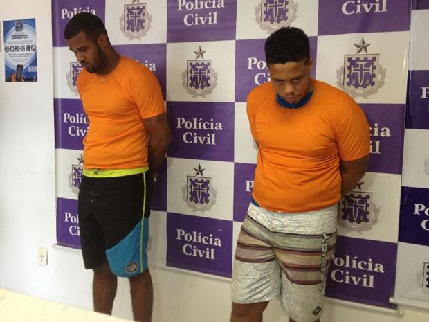 Robson Belmonte e Fábio Andrade foram presos no domingo (17) (Foto: Henrique Mendes / G1)