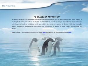 Marinha vai premiar vídeos de alunos com viagem à Antártica (Foto: Reprodução)