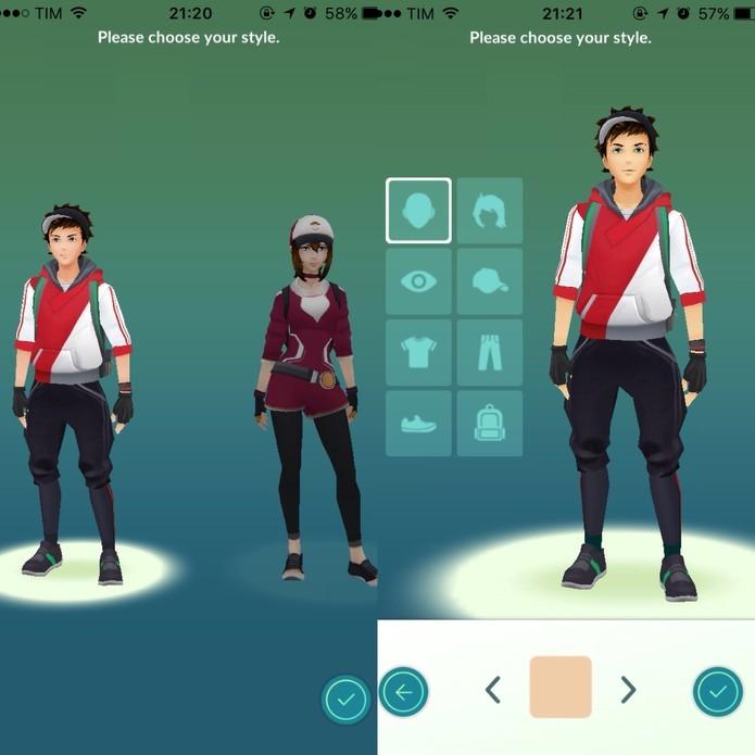 Construa seu treinador em Pokémon Go (Foto: Reprodução/Felipe Vinha)  (Foto: Construa seu treinador em Pokémon Go (Foto: Reprodução/Felipe Vinha) )