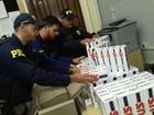 PRF apreende 2.500 maços de cigarros de origem do Paraguai na BR-163
