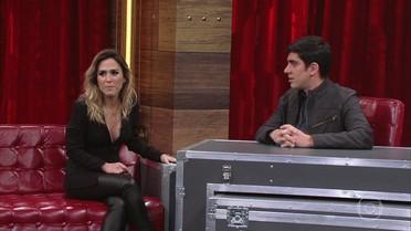 Marcelo Adnet recebe Tatá Werneck e atriz revela alguns de seus desejos