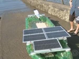 Barco energia solar (Foto: Reprodução/RBS TV)