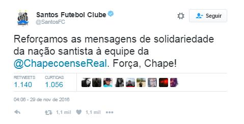 Santos Chape (Foto: Twitter)