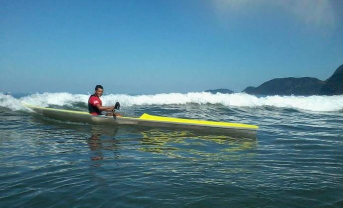 Ariel Alves Canoagem Oceânica (Foto: Arquivo Pessoal)