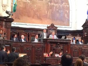 Sessão da Alerj nesta terça (3) (Foto: Marcelo Elizardo/G1)