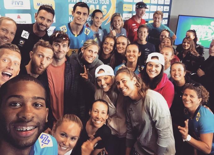 Evandro e André World Tour finals vôlei de praia Hamburgo (Foto: Reprodução Twitter)