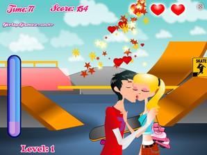 Beijos na pista de skate