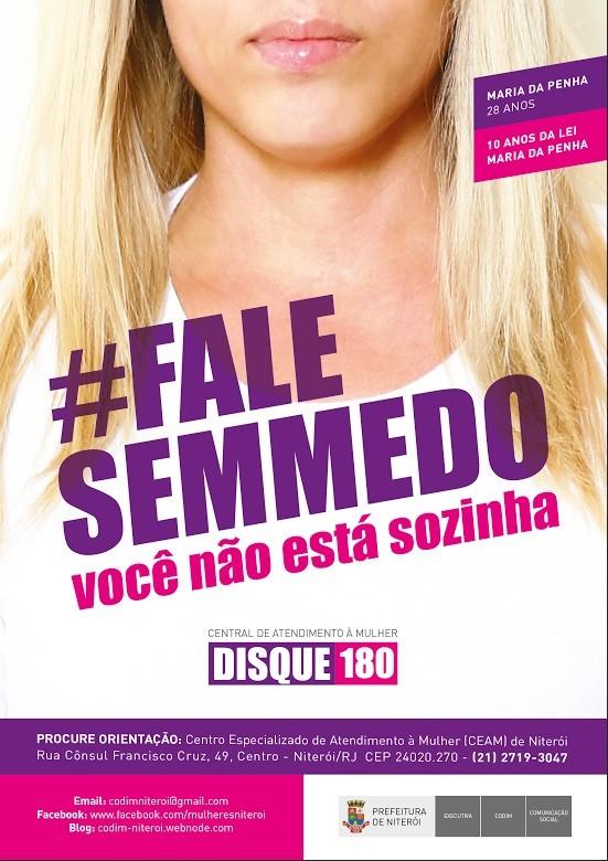 Campanha sobre violência contra a mulher