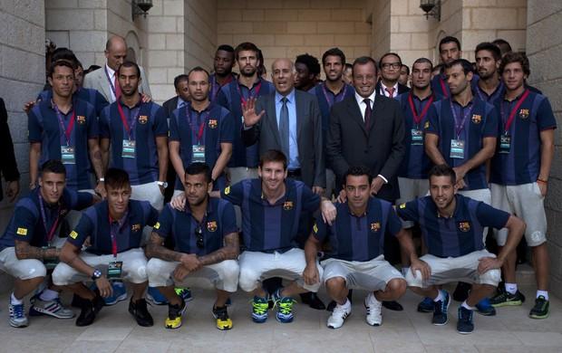 neymar messi barcelona israel (Foto: AFP)