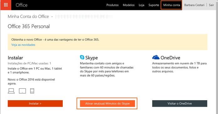 Inicie o processo para resgatar os créditos do Skype (Foto: Reprodução/Barbara Mannara)