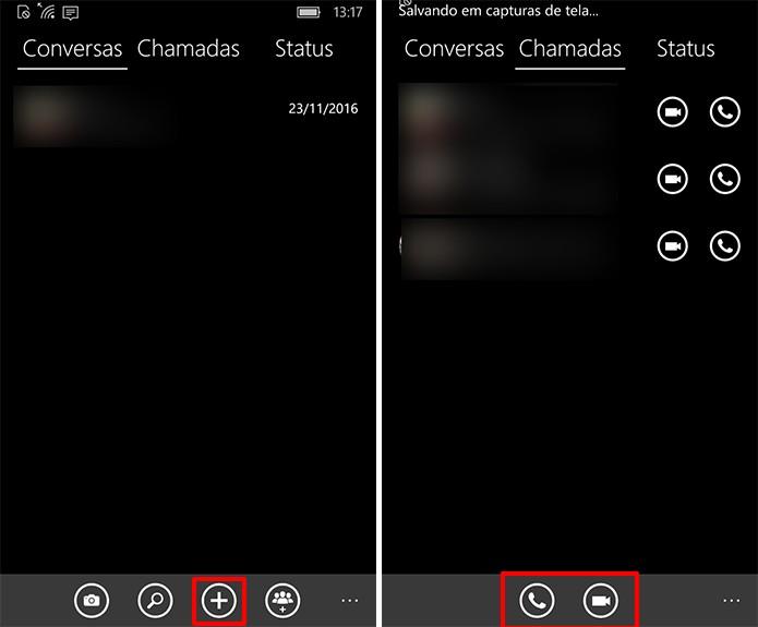 WhatsApp tem botões para iniciar nova conversa ou chamadas com contatos (Foto: Reprodução/Elson de Souza)