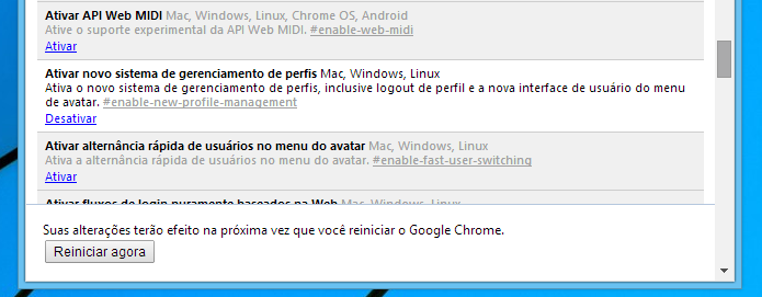 Reinicie o navegador (Foto: Reprodução/Helito Bijora)
