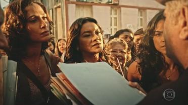 Beatriz, Tereza e Luzia impedem fuga de Queiroz e Raimundo