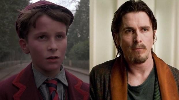 Christian Bale em Império do Sol e Batman: O Cavaleiro das Trevas Ressurge (Foto: Divulgação)