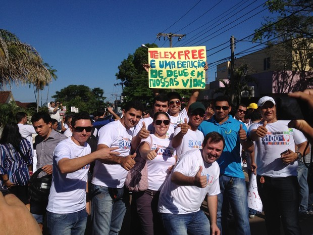 Telexfree protesto (Foto: Rayssa Natani / G1)