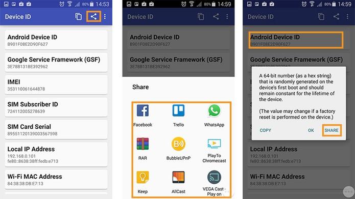 Compartilhando dados separados ou conjuntos do Android (Foto: Reprodução/Barbara Mannara)
