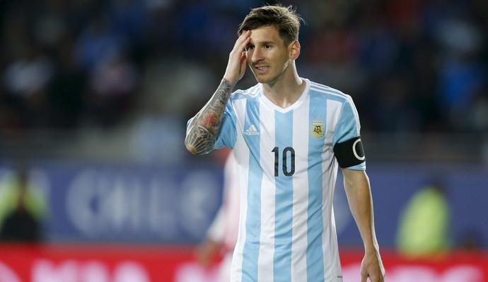 Messi Argentina x Paraguai (Foto: AP)