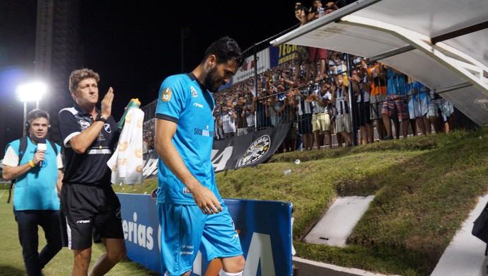 Vaná goleiro do ABC (Foto: Augusto Gomes/GloboEsporte.com)