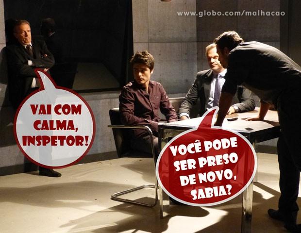 Vitor é pressionado a falar a verdade (Foto: Malhação / TV Globo)