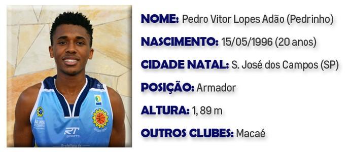 Pedrinho São José Basquete (Foto: Arte GloboEsporte.com)
