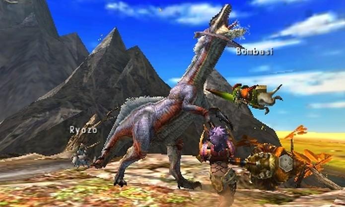 Monster Hunter 4 oferece combates online e grande variedade de inimigos (Divulgação/Capcom)