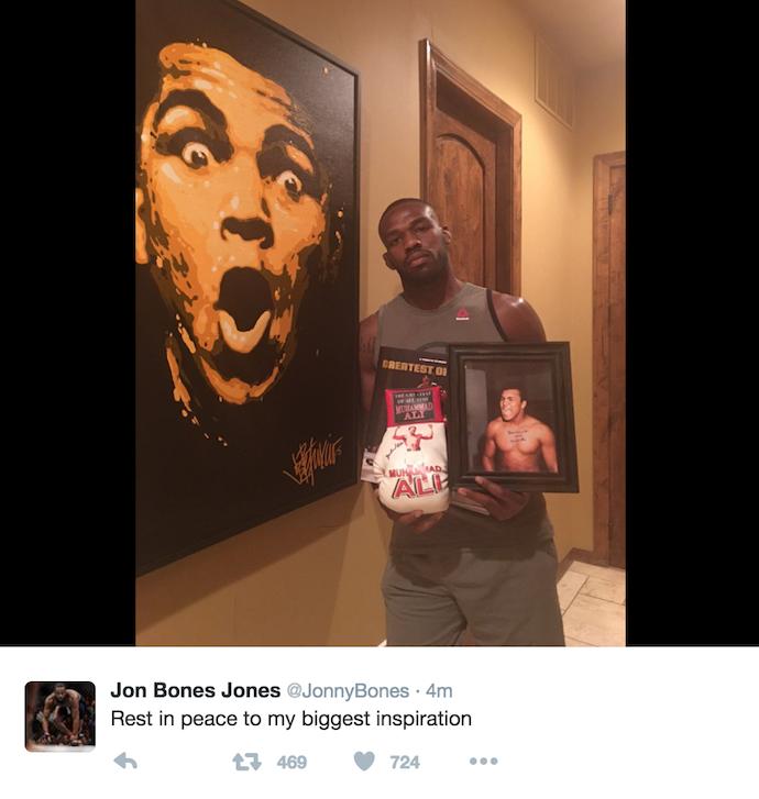 BLOG: Jon Jones, José Aldo e outros lutadores de MMA homenageiam Muhammad Ali