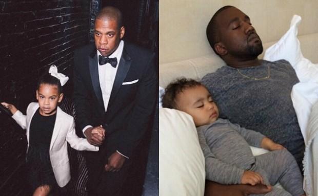 Kanye West  pai de North e Jay-Z, de Blue Ivy (Foto: Reproduo/Instagram)