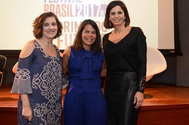 Claudia Bocciardi, diretora de marketing da Braskem, Daniela Falcão, diretora-geral da Globo Condé Nast, e Ana Laura Sivieri, gerente de marketing da Braskem (Foto: Rodrigo Zorzi)