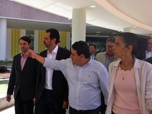 Governador Agnelo Queiroz durante inauguração do novo Centro Administrativo do DF (Foto: Isabella Formiga/G1)