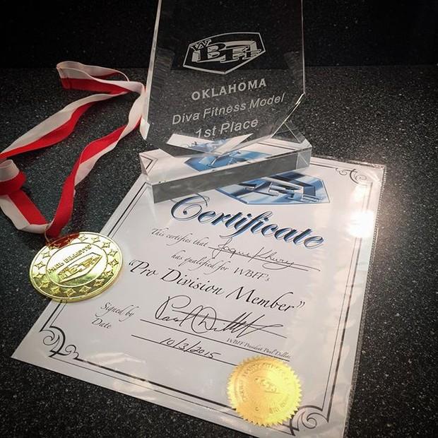 Jaque Khury ganha concurso fitness nos Estados Unidos (Foto: reprodução/instagram)