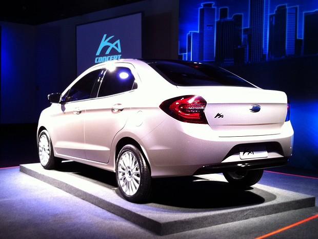 Ka Concept Sedan foi revelado nesta segunda-feira (3) (Foto: Luciana de Oliveira/G1)