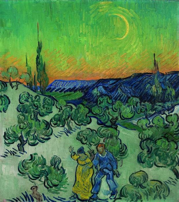"""""""Passeio ao Crepúsculo"""", do pintor holandês Vincent van Gogh, que integra a nova mostra de acervo do Museu de Arte de São Paulo (Foto: Divulgação)"""