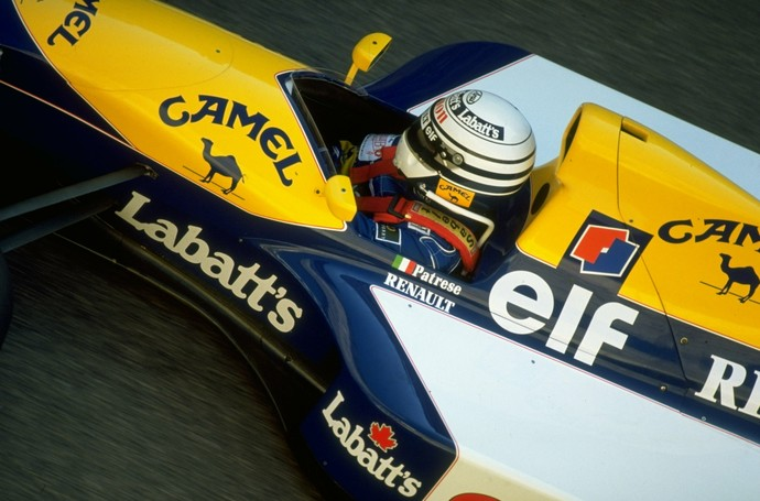 Riccardo Patrese, em 1991, na Williams (Foto: Getty Images)