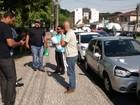 Motoristas da Uber em Curitiba fazem homenagem a colega morto em roubo