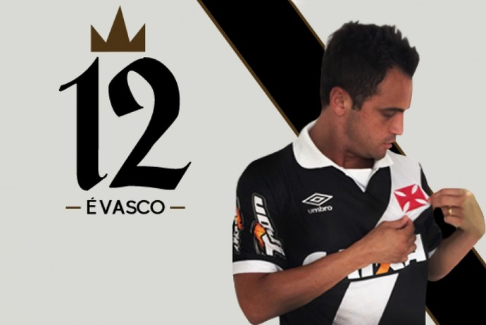 Anúncio de Falcão no time de Fut7 do Vasco  (Foto: Divulgação)