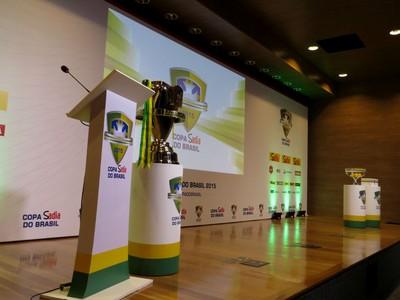 Sorteio; Copa do Brasil; CBF; taça (Foto: Fernando Freire)