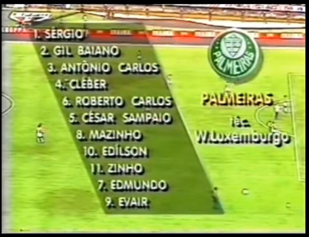 Esquadra Palmeirense campeã em 1993  (Foto: Reprodução/Youtube)