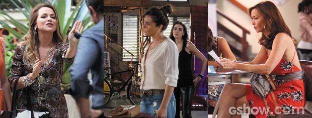 Cintos largos, finos e de vários modelos fazem os looks Em Família (Foto: Em Familia/TVGlobo)