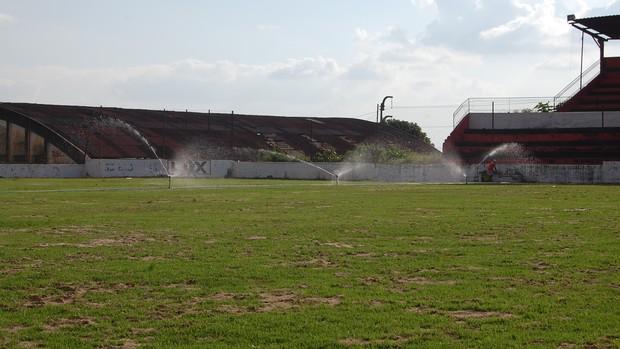 Reformas no Estádio Renatão, do Campinense (Foto: Silas Batista / Globoesporte.com/pb)