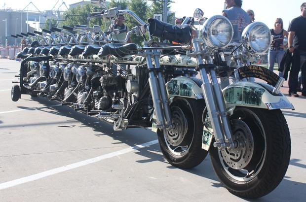 Timeline Motorcycle tem 7 motores (Foto: Rafael Miotto/G1)