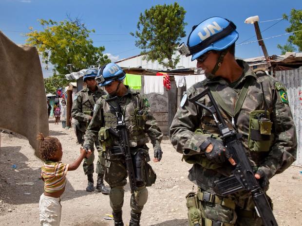 Minustah onu haiti exército  (Foto: : UN/MINUSTAH/Jesús Serrano Redondo)